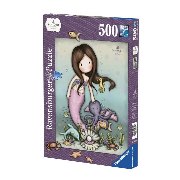 RAVENSBURGER Puzzle 500 p - Nice to Sea You / Gorjuss - Casse Tete, Adulte, 4005556148158