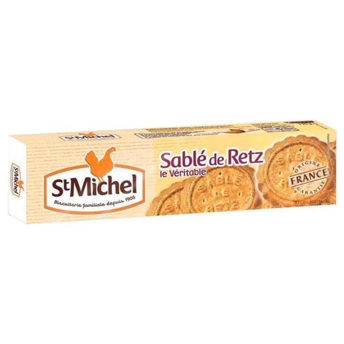St Michel Sablés de Retz Noix de Coco 120g (lot de 10 x 3 paquets)