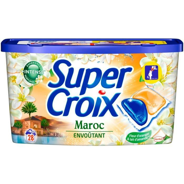 SUPER CROIX Lessive Duo-Caps Maroc - 28 doses