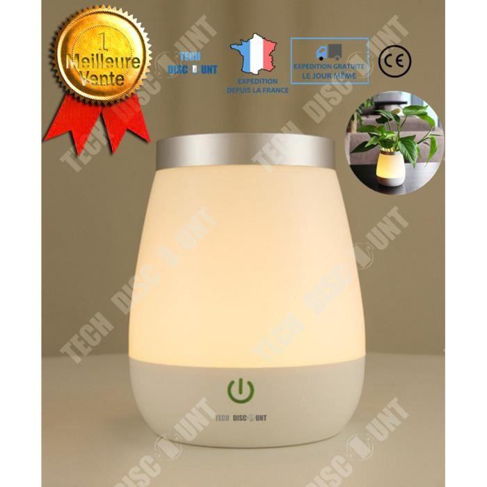 TD® Lampe Pot lumineux vase fleurs extérieur LED intérieur sans fil plante lumière enfant coloré décoration USB de chevet veilleuse