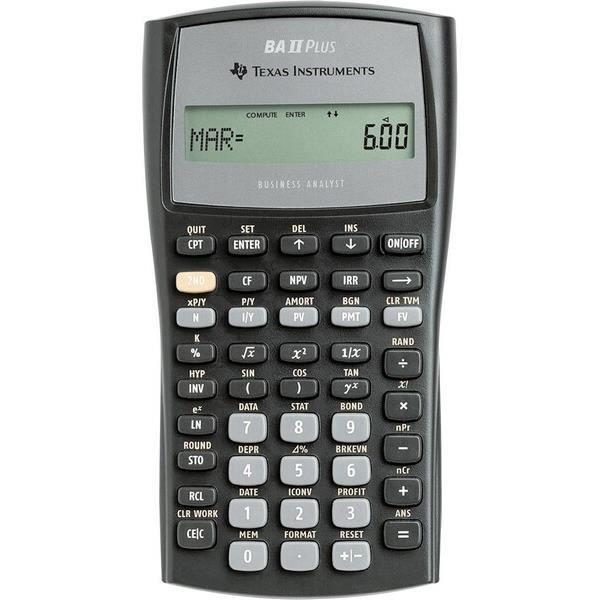 Texas Instruments BA-II Plus, Poche, Calculatrice scientifique, 10 chiffres, Noir
