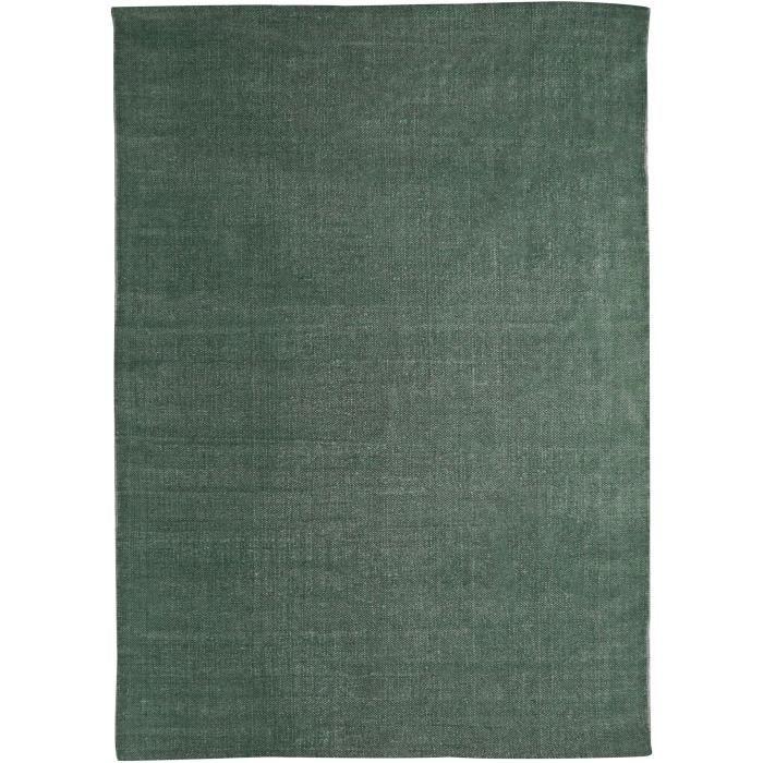 Tapis DUNES coton 120x170 vert foncé