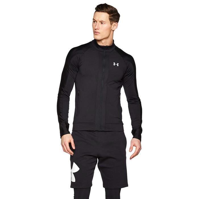 Under Armour Coldgear Run Knit Veste Homme, Noir, FR (Taille Fabricant : MD) - 1317495-001
