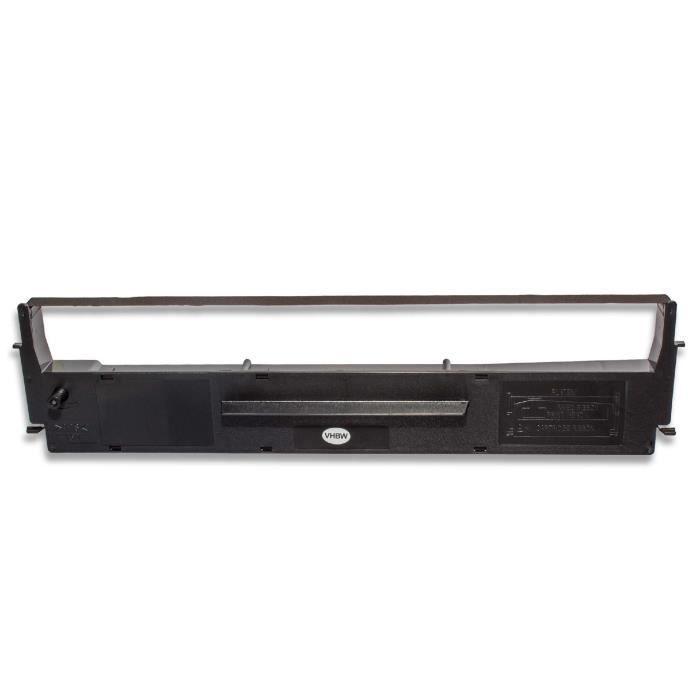bande d'encrage vhbw de type C13S015637, C13S015021, S015637 pour imprimante matricielle Epson LQ300, LQ300+, LQ300II, LQ400,