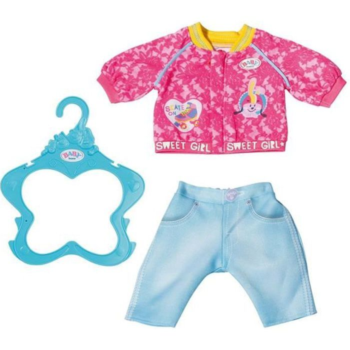 Accessoire pour poupée Zapf Creation 828212-A Baby Born Vêtement de poupée 43 cm Costume de Loisirs rose