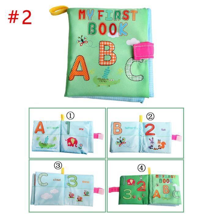 Livre Bebe D Activites En Tissu Alphabet Jouet Educatif Cadeau Pour Bebe