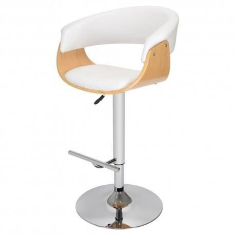 fauteuil de bar oslo blanc achat vente tabouret de bar. Black Bedroom Furniture Sets. Home Design Ideas