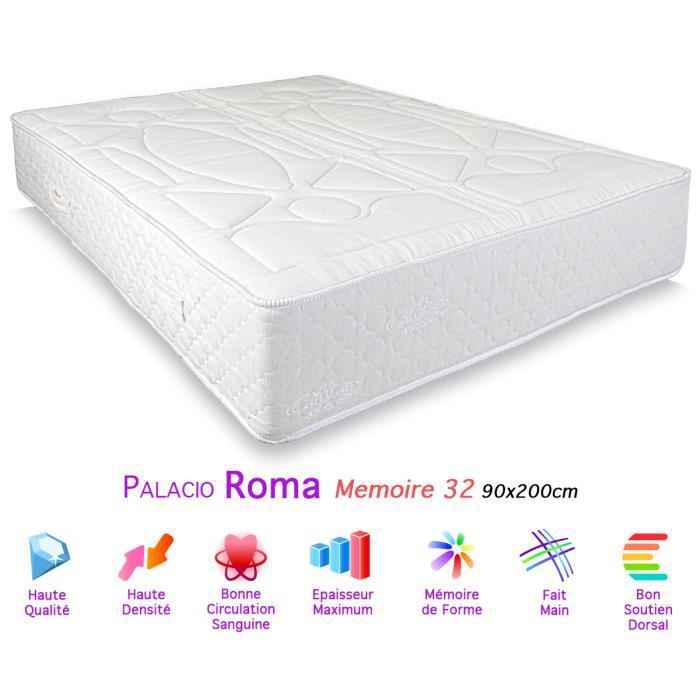 matelas palacio roma m moire de forme 32 90x200cm achat. Black Bedroom Furniture Sets. Home Design Ideas