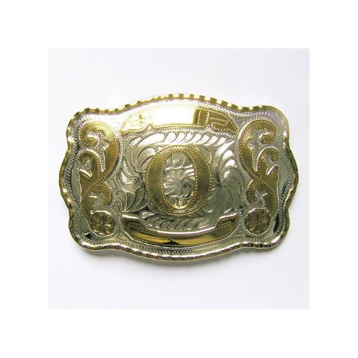 Buckle Boucle de ceinture ceinturon avec ceinture belt lettre C plaqué or