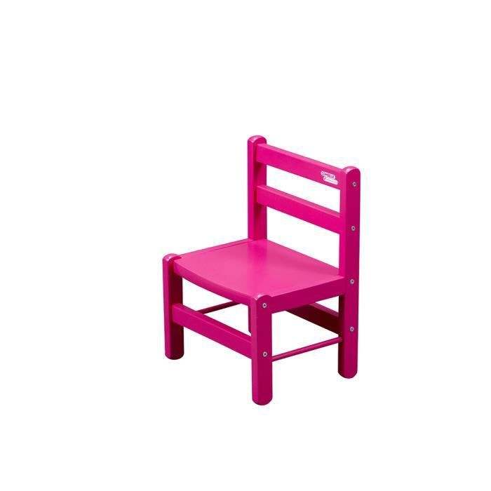 chaise basse d corative chambre enfant fushia rose en bois achat vente chaise tabouret. Black Bedroom Furniture Sets. Home Design Ideas