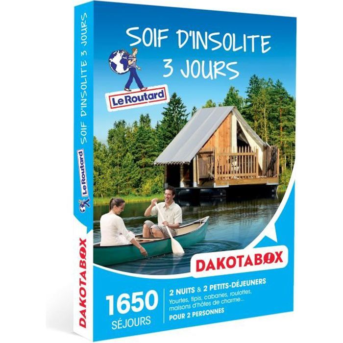 COFFRET SÉJOUR DAKOTABOX - Coffret Cadeau -Soif d'insolite 3 jour