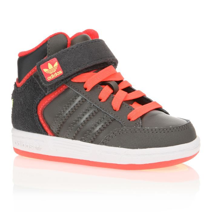 adidas originals baskets varial mid b b gar on gris rouge achat vente basket cadeaux de. Black Bedroom Furniture Sets. Home Design Ideas
