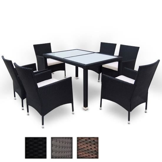 ensemble table et chaises de jardin en rotin classique marron achat vente salon de jardin. Black Bedroom Furniture Sets. Home Design Ideas