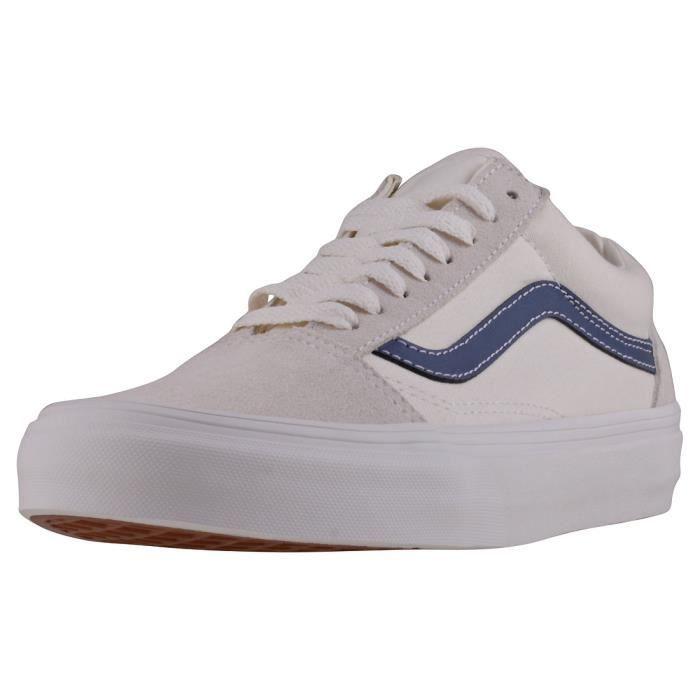 vans blanche et bleu