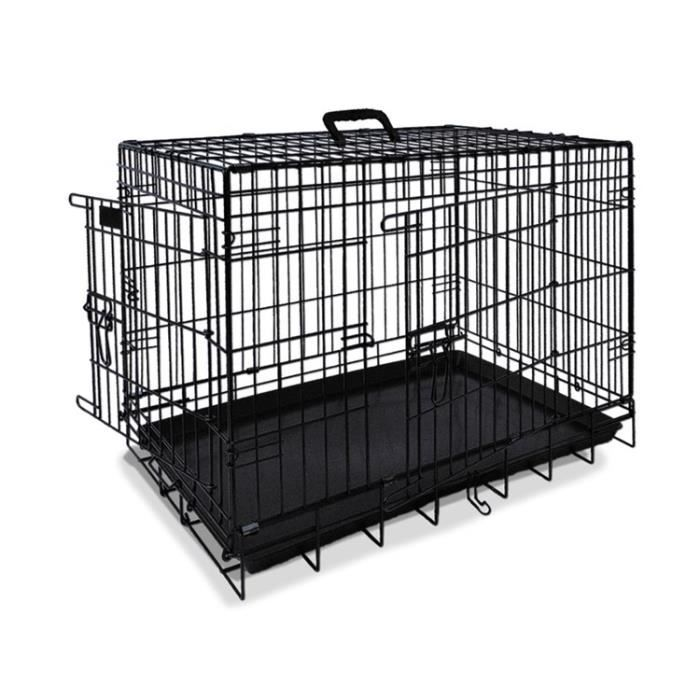 nobby cage de transport m tallique noire pour chien 116 x. Black Bedroom Furniture Sets. Home Design Ideas