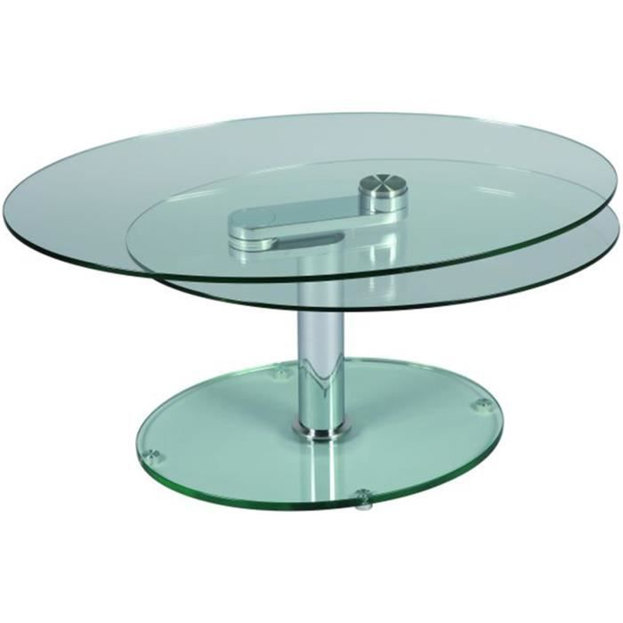 Table basse en verre ovale achat vente table basse table basse en verre o - Table basse verre ovale ...