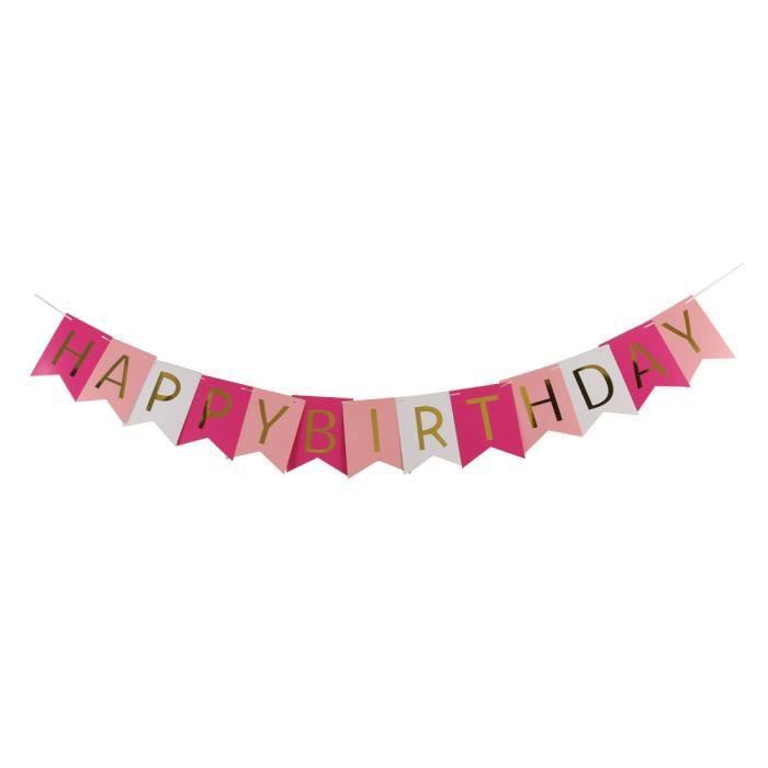 Joyeux Anniversaire Papier Lettre Imprimer Partie Bricolage Decoration Crochet Banniere Photo Prop A17040600ux1286 Achat Vente Banderole Banniere Cdiscount