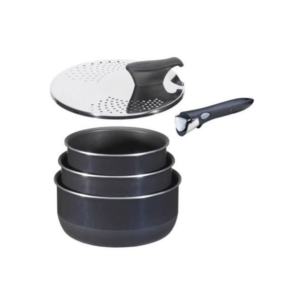 set tefal ingenio ptfe bleu nuit 5 pces achat vente casserole set tefal ingenio ptfe bleu. Black Bedroom Furniture Sets. Home Design Ideas