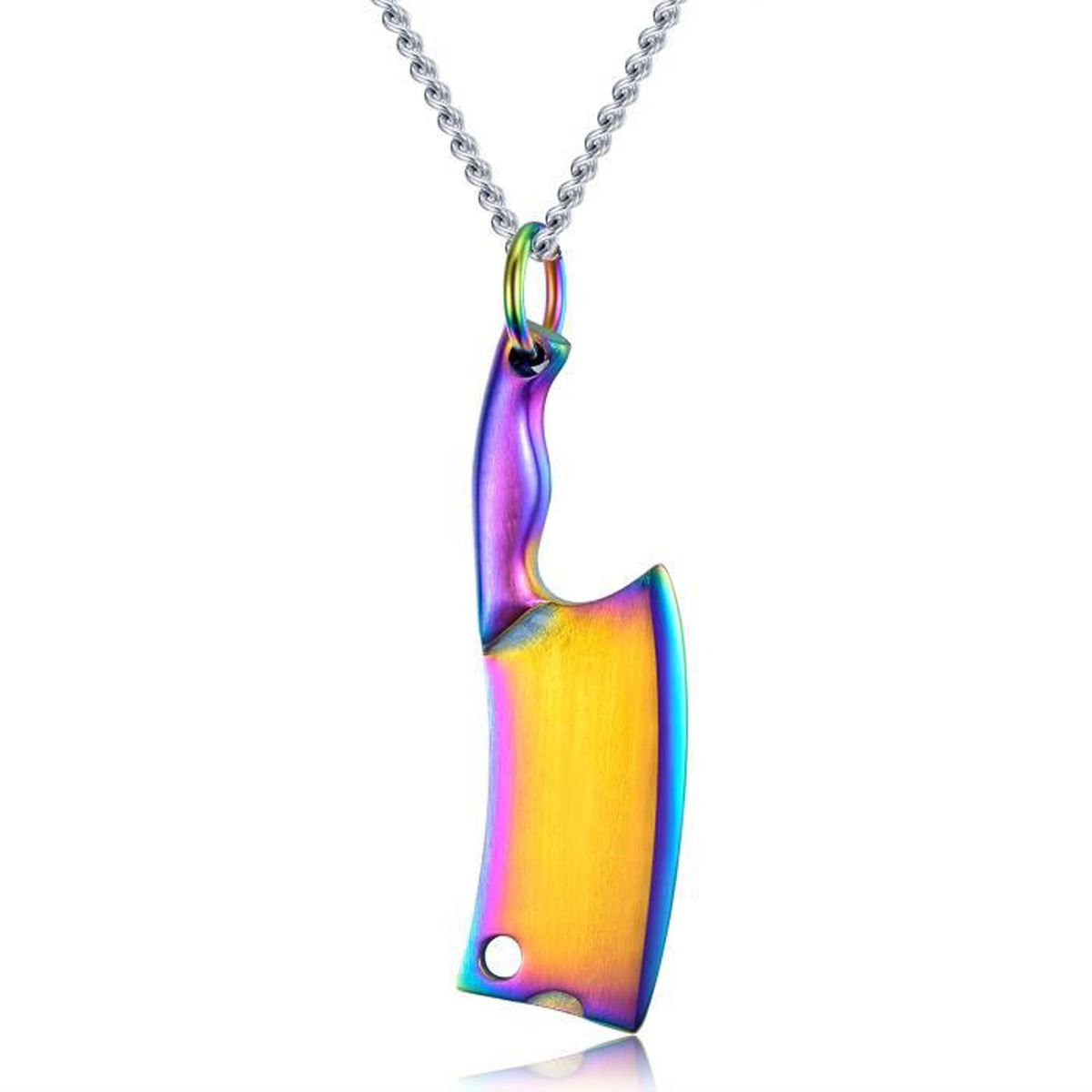 collier homme couteau