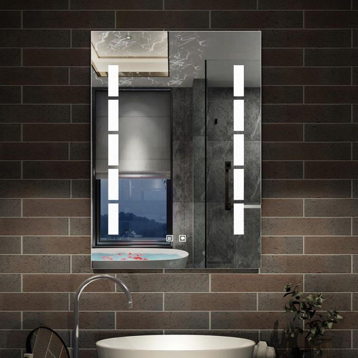 Miroir LED anti-buée 20x20cm miroir de salle de bain - Achat
