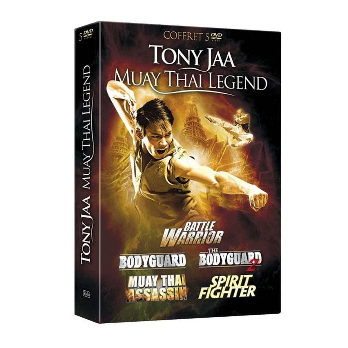 Jaa Cool tony jaa coffret 5 dvd : bodyguard+bodyguard 2+muay thai assassin+