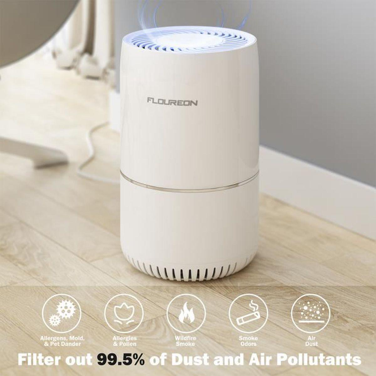 Partu Purificateur d/'Air Poussière Fumée Pet odeur Aspirateur avec HEPA Filtre à Charbon Aspirateur