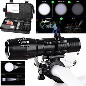 LAMPE DE POCHE X800 XML T6 LED Zoom Tactical militaire lampe de p