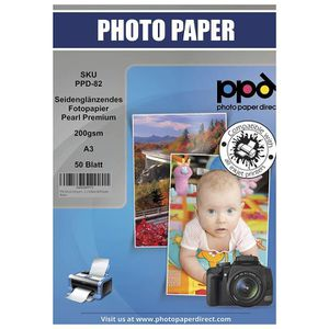 PAPIER PHOTO PPD Jet d'encre satiné Pearl Premium Papier photo