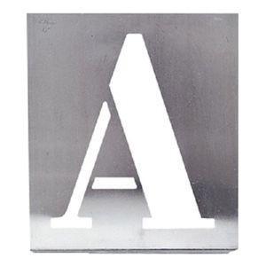 POCHOIR CRÉATIF Pochoir alphabet lettres capitales 100 mm