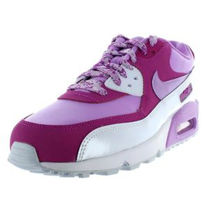finest selection 1ee94 f33b3 BASKET NIKE AIR MAX 90 LTR GS 724852 500 Baskets Femme