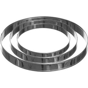 PLAT POUR FOUR Lot De 3 Cercles En Inox