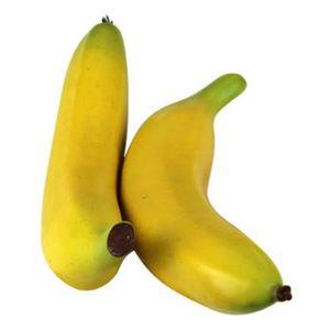 2pcs Artificielle Fausse jaune Bananes Fruits Décoratifs fête de mariage Décorations