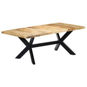 TABLE À MANGER SEULE vidaXL Table de salle à manger 200x100x75 cm Bois