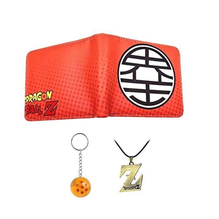 Porte-Cartes OJPK8 Anime Dragon Ball Z Portefeuille Jeunes et Étudiants Portefeuilles Courts Bourse de Bande Dessinée Japonaise