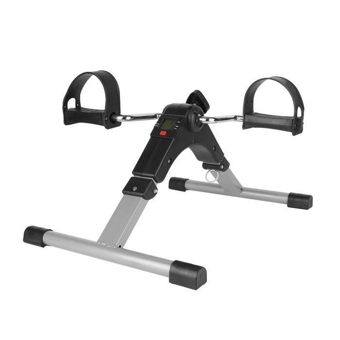 Pédalier d'Appartement Mini Vélo Pliable Stepper Fitness Avec Écrant LCD