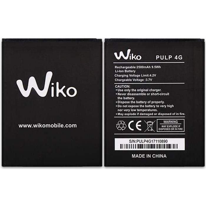 Pour WIKO Pulp 4G Batterie de téléphone portable 2500mAh Batterie Haute Capacité Batteries