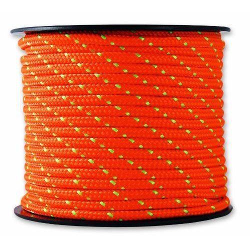 Tresse - Résistance 200 kg - Ø 3 mm x 25 m - Orange et vert