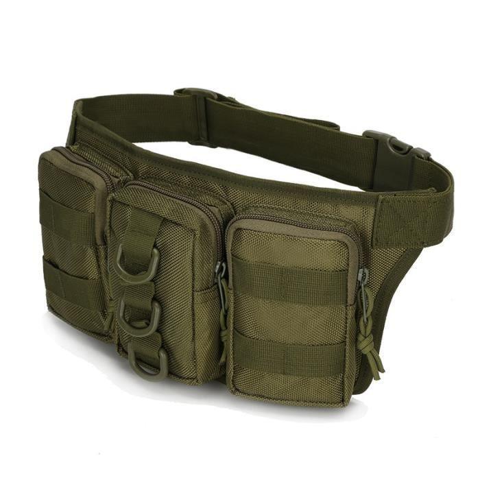 Army green -Sac de taille tactique Molle pour hommes, sac de randonnée en plein air, sacs militaires de chasse, de sport, d'escal