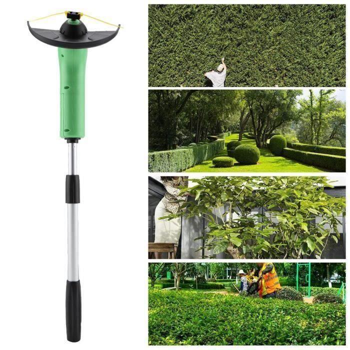 Tondeuse à main pratique coupe-herbe portatif Outil de décoration de jardin--Rose Vie
