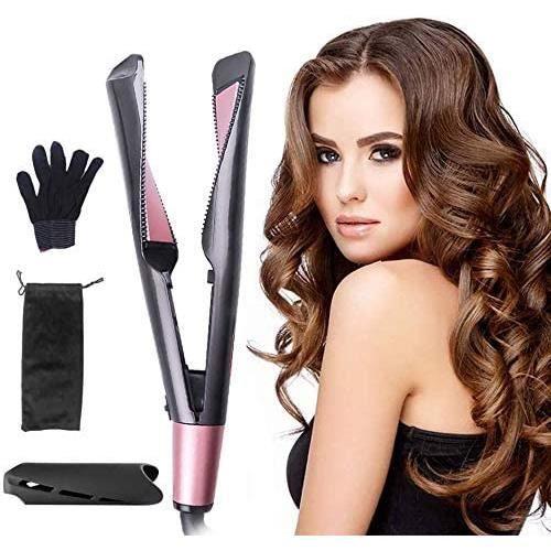 Fer à Lisser,Friseur Boucleur,Boucleur Antistatique,plaques de coiffage pour lisser,Lisseur Cheveux con Chauffe Rapidement,Fer à Lis