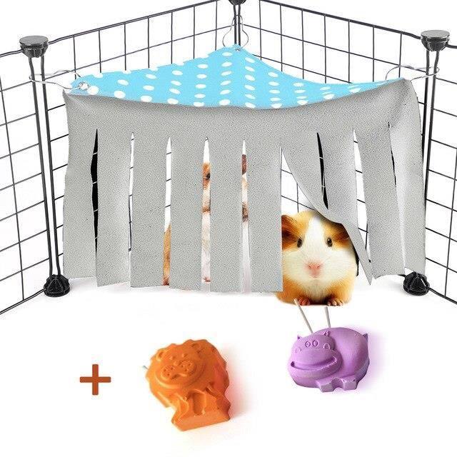 Hamster Dodge maison Hamster Cage accessoires petit animal de compagnie gland coin nid pour cochon d'inde furets ani SN16520