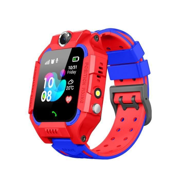 La montre-téléphone pour enfants de six générations, la montre de positionnement imperméable pour étudiants, la montre Garçon rouge