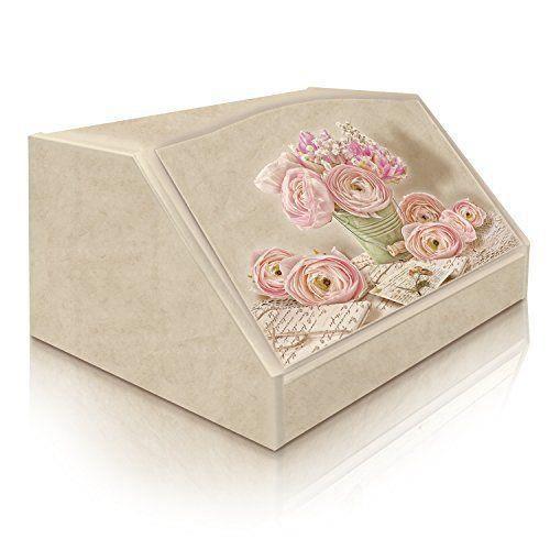 Lupia Boîte à pain Shabby Romantic Lyrics Bois Motif fantaisie 30 x 40 x 20 cm - 8016123080159
