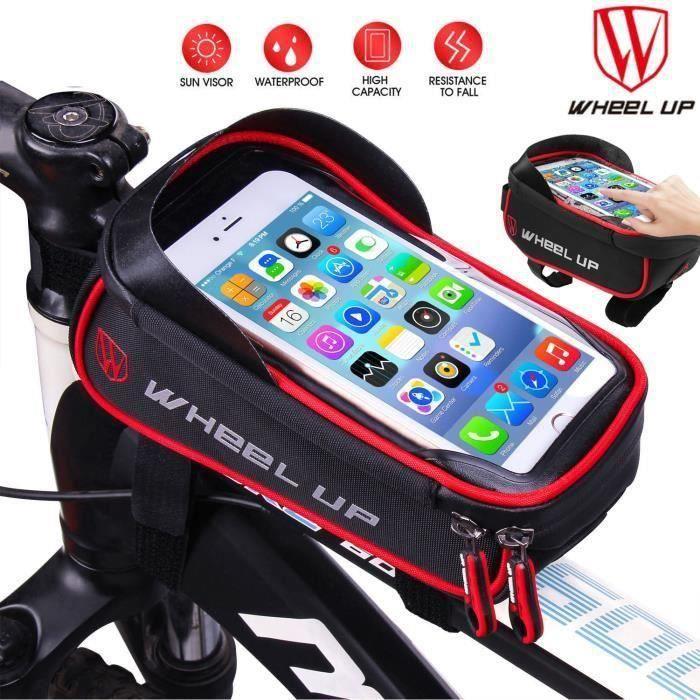 Sacoche de vélo étanche pour iPhone 8-7-6s Plus iPhone X Samsung, 900D, 1.28L LIA14137