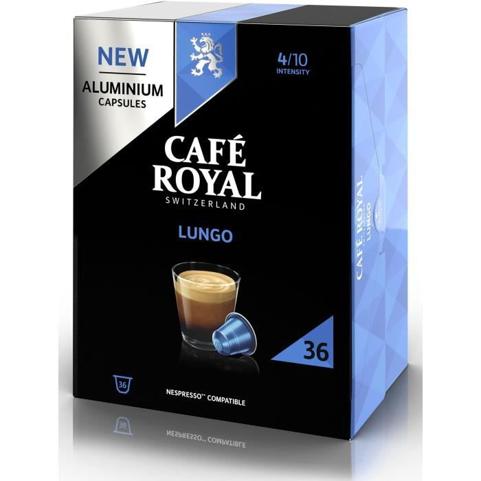 CAFE ROYAL compatible Nespresso Alu Lungo x36