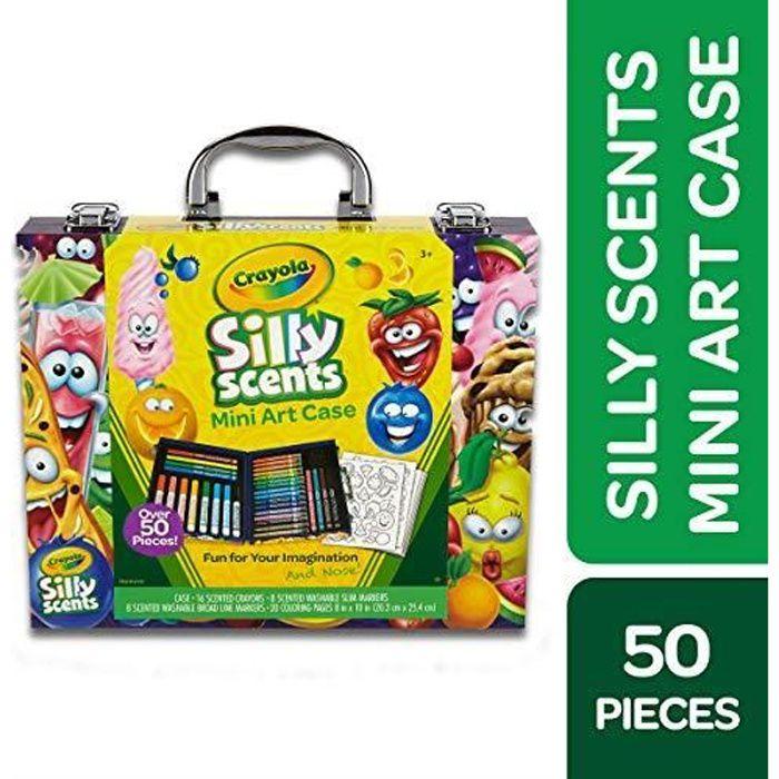 Crayola Scents-04-0015-E-001Mini Coffret Artistique de feutres et Crayons parfumés Silly Scents 04-0015