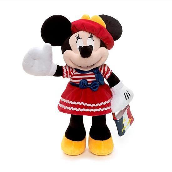 Minnie Mouse Paris peluche douce 38cm
