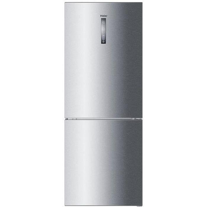 Haier Réfrigérateur combiné A+++ no frost frigo acier inox 314 l C3FE844CGI