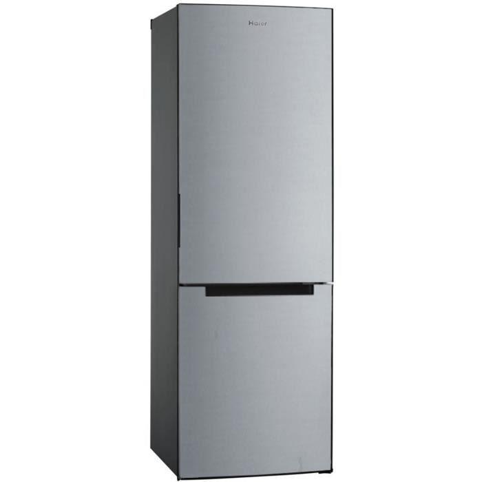 HAIER HBM-686S - Réfrigérateur combiné - 312L (223 + 89) - A+ - L 6 cm X H 185 cm - Silver