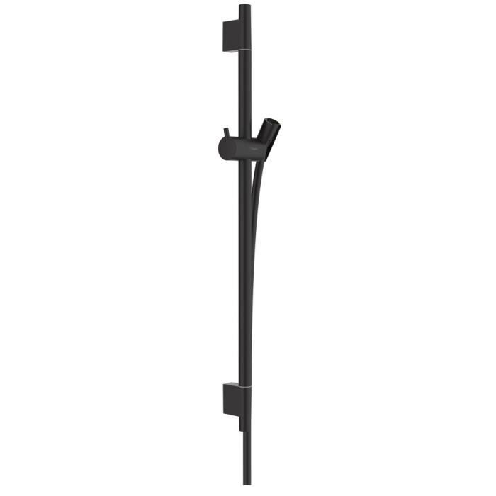 HANSGROHE Unica Barre de douche S Puro 65 cm avec flexible de douche, noir mat